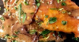 Chicken Scallopini with Red Wine Mushroom Sauce MICHAEL SYMON
