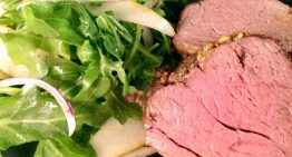Roasted Beef Tenderloin with Arugula and Pear Salad MICHAEL SYMON