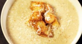 Roasted Cauliflower Soup with Parmesan Croutons CLINTON KELLY