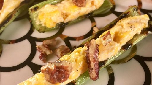 Grilled Celery with Cheddar and Pecans CARLA HALL