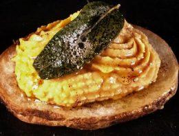 Crispy Potatoes with Pumpkin Hummus CATHERINE SMITH