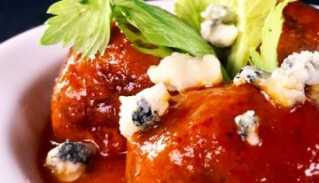 Buffalo Chicken Meatballs MICHAEL SYMON