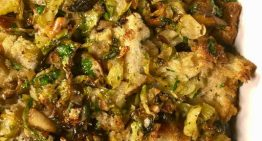 Brussels Sprout and Mushroom and Stuffing MICHAEL SYMON