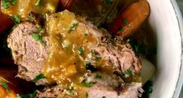 Roasted Pork Shoulder with Pan Gravy MICHAEL SYMON