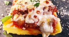 Polenta with Sausage Ragu and Fresh Mozzarella MICHAEL SYMON