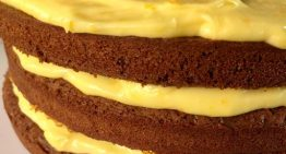 Chocolate Gingerbread Cake with Orange Curd Cream CARLA HALL
