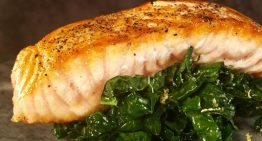Pan Roasted Salmon with Lemony Kale MICHAEL SYMON