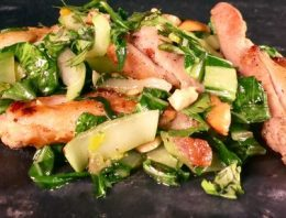 Cashew Chicken and Bok Choy MICHAEL SYMON