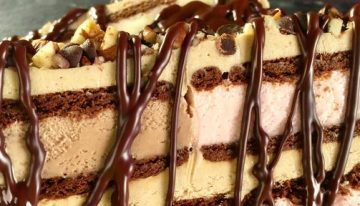 Neapolitan Ice Cream Sandwich Cake CARLA HALL