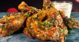 Baked Chicken Wings with Salsa Verde MICHAEL SYMON