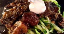 Beef Stroganoff with Zucchini Noodles MICHAEL SYMON