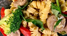 Weeknight Penne with Veggies and Chicken Sausage DAVE ZINCZENKO