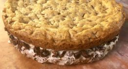 Giant Chocolate Chip Cookie Ice Cream Sandwich MICHAEL SYMON
