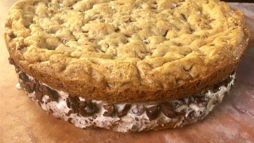 Giant Chocolate Chip Cookie Ice Cream Sandwich MICHAEL SYMON