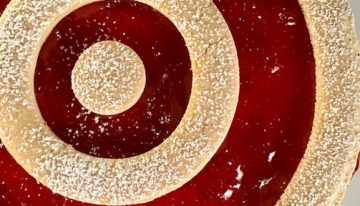 Strawberry Linzer Cheesecake CARLA HALL