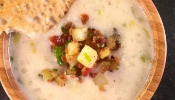 New England Clam Chowder with Johnny Cakes CARLA HALL