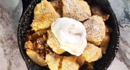 Cornmeal Apple Crumble Skillet CARLA HALL