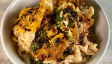 Broccoli Cheddar Oatmeal Bake THE CHEW