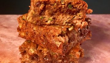 Zucchini Almond Butter Blondies KRISTIN CAVALLARI