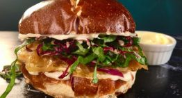 Grilled Chicken Sandwich on a Pretzel Bun THE CHEW