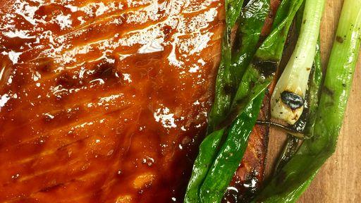 Cedar-Planked Salmon MICHAEL SYMON