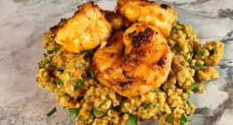 Piri Piri Marinated Shrimp with Millet Pilaf CARLA HALL