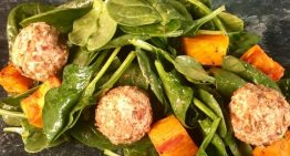 Spinach Salad with Sweet Potato Croutons CLINTON KELLY
