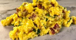 Bacon and Ramp Scrambled Eggs MICHAEL SYMON