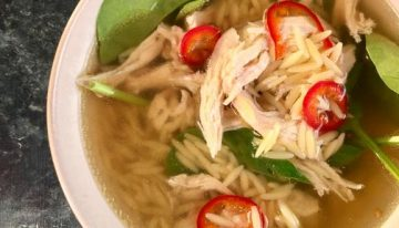 Chicken Soup with Orzo and Spinach CLINTON KELLY
