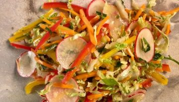 Crunchy Vegetable Salad with Pomegranate Dressing CLINTON KELLY