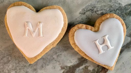 Brown Butter Shortbread Heart Cookies CARLA HALL