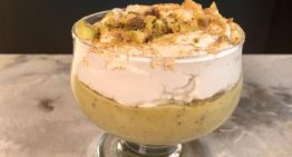 Pistachio Pudding with Orange Liqueur Whipped Cream CARLA HALL