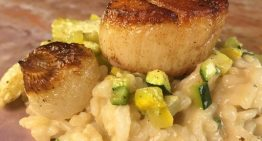 Sea Scallops with Squash Risotto and Brown Butter MICHAEL SYMON, CLINTON KELLY