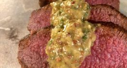 Spanish Spice-Rubbed Lamb Loin with Mustard-Mint Glaze BOBBY FLAY