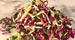 Shredded Veggie Slaw with Celery Seed Vinaigrette BOBBY FLAY